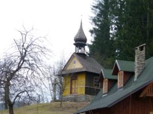 Dřevěná kaplička v Leskové